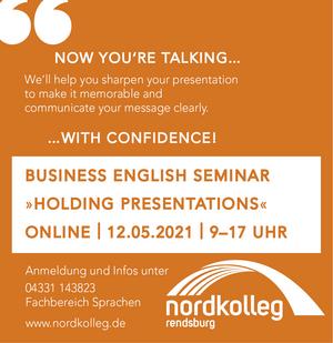 »Holding presentations«